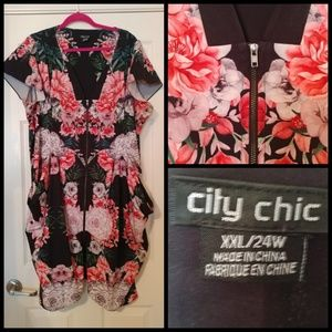 City chic floral dress with pockets